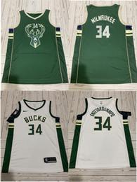 bay backback jersey Rebajas 31 2019-2020 personalizada NCAA Jersey Milwaukee34 dólares para hombre que Antetokounmpo Ciudad de costura Camiseta retrocesocamisetas de la NBA de baloncesto de la bahía