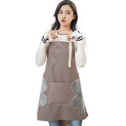 Tasche ristorante online-Grembiule con tasca frontale Cottura con forno Home Restaurant Taglia unica, grembiule da cucina lavabile. Moda della cucina