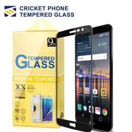 Protector de pantalla ídolo alcatel online-Para Huawei Mate 20 X Alcatel x1 Evolve onetouch ídolo 3 4 5 Huawei P20 lite 2.5D Protector de pantalla de cristal templado de cubierta completa para Cricketd