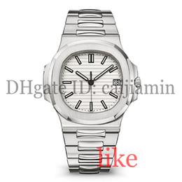 Relógios de grife mens relógio de luxo automático 5711 pulseira de prata super luminosa inoxidável mens mecânica montre de luxe relógio de pulso à prova d 'água de
