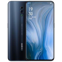"""k1 téléphones cellulaires Promotion Téléphone portable d'origine OPPO Reno 4G LTE 6 Go de RAM 128 Go de 256 Go de ROM Snapdragon 710 Octa Core Android 6.4 """"48MP OTG d'empreintes digitales Face Téléphone Mobile"""