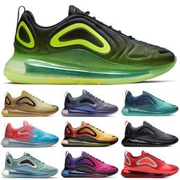 2019 sapatos de corrida de luxo Luxo nike air max 720 Triplo preto Homens Mulheres Tênis De Corrida 2019 New Volt Rosa Mar Esporte Tênis Branco Hiper Crimson Sapatilhas Sapatos de Designer 5-11 desconto sapatos de corrida de luxo
