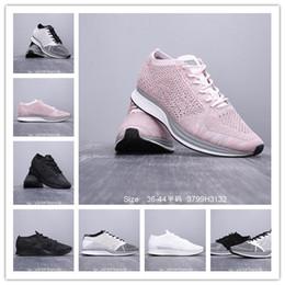 ce9315025536 scarpe da passeggio leggero da uomo Sconti 2019 Vendita all'ingrosso Fly  Knit Racer Scarpe