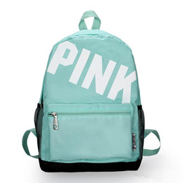 backpacks for men free shipping Coupons - New Pink Designer Backpack For Women Girls Back pack Bags For Ladies Oxford Casual Mochilas de mulher Free Shipping Drop Shipping