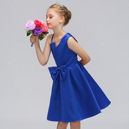 Una linea di cinghia di fiori online-Ragazze eleganti da sera formale festa di compleanno Prom Fiore ragazze Una spalla vestito vestito da principessa vestito fiore ragazza tracolla