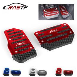 Tampa do carro de automáticos on-line-RASTP-2pcs / set Universal Antiderrapante Alumínio Transmissão Automática Pedal Tampa Do Carro Set Para Acelerador de Freio RS-ENL017