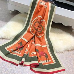 2019 lenço folk Lenço de inverno Designer de Marca Tide Mulheres Quentes carta xale cachecol moda longo pescoço anel de alta qualidade 180X68 CM Cashmere mistura folk-personalizado lenço folk barato