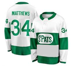 topo de bordo Desconto Top bom preço Formadores Matthews Toronto St. Pats White Premier Jersey, Toronto Maple Leafs 34 MATTHEWS 91 TAVARES 16 MARNER Camisola de Hóquei