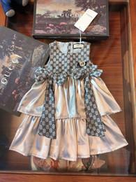 Filato coreano online-Gonna per bambini 2019 Summer New Pattern Vestito coreano da ragazza In Will Child senza maniche Princess Yarn Skirt Flower Skirt 0714