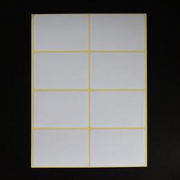 Impresora adhesiva adhesiva online-6 tamaños hoja de papel cuadrado largo papel en blanco etiqueta adhesiva impresora de oficina etiquetas de código de barras etiqueta 15 hojas de memoria blanca