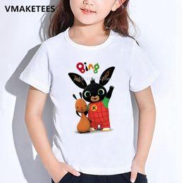 chemise de lapin enfants Promotion T-shirt Bing Rabbit / Bunny Cartoon Print T-shirt pour enfants, vêtements pour bébés drôles, HKP5169