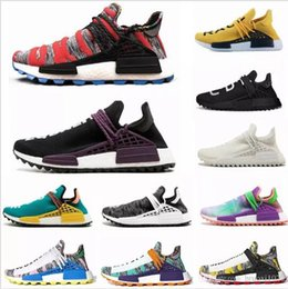 ec08a40884e2b 2019 NMD human race Hu trail x pharrell williams men running shoes Solar  Pack Afro Holi Blank Canvas mens trainers women sports sneaker