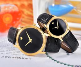 21407960567 Relógio de luxo dos homens das mulheres amante relógios de quartzo  movimento suíço movimento relógios de pulso de vaca real de alta qualidade  marca casal ...