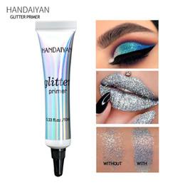 крем палитры теней для век Скидка HANDAIYAN Eye Shadow Primer Make Up Base NaturProfessional Cosmetic Eyeshadow  Cream Long-lasting Palette Waterproof