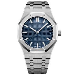 relógios antigos Desconto grife de luxo data impermeável relógios homens relógios automáticos de correia de prata azuis mens inoxidável mecânica orologio di Lusso relógio de pulso