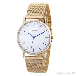 Reloj de pulsera analógico mujer online-Women's Watches Luxury Elegant Ladies Stainless Steel Wrist Watch Female Clock Analog Quartz Round WristWatches Relogio Feminino