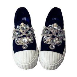 sapatos baixos japoneses Desconto Rhinestone nova moda plana sapatos de lona strass luxo heely sapatos simples japonês um pedal preguiçoso