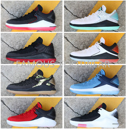 2019 linea di giada Scarpe da basket basse J32 da uomo di alta qualità Linea di tiro libero Scarpe da basket 32S di ultima generazione Tiger Camo Win come 96 Scarpe da ginnastica rosse nere di giada linea di giada economici