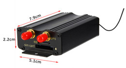 Gsm remote sim on-line-Alta Qualidade Do Carro Rastreador GPS Sistema GPS GSM GPRS Veículo Rastreador Localizador TK103B com Controle Remoto SD Cartão SIM Anti-roubo Frete Grátis