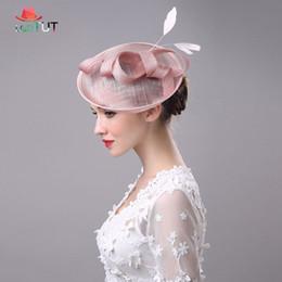 Chapéus de casamento para senhoras on-line-Novas Senhoras Nupcial Chapéus Bowler Banquete De Casamento Senhora Chapéu Chapéus de Casamento Para As Mulheres Elegante Desgaste Da Cabeça Banquete Senhora Chapéu de Baile