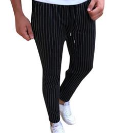 Canada pantalon de crayon skinny longueur mi-longue mi-poids plat mi-taille pantalon rayé nouveau magasin avec prix bas et élevé Offre