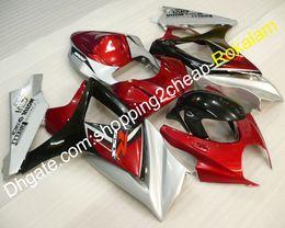 2019 carenado gsxr rojo negro plata Piezas de la carrocería Moto para Suzuki GSX-R1000 K7 07 08 GSXR1000 GSX R1000 GSXR 2007 2008 Plata Rojo Negro Carenado (moldeo por inyección) rebajas carenado gsxr rojo negro plata
