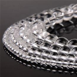 perles de quartz claires Promotion Perles en cristal naturel clair translucide rondes perles en vrac Top Grade Quartz pour DIY Bracelet Collier Making Making 1 brin 4/6/8 / 10mm