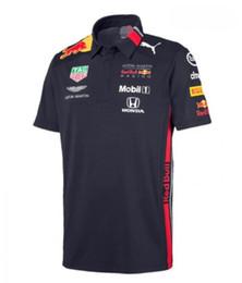 mochilas motociclistas Desconto F1 Formula T-shirt de manga curta de lapela 1 Polo camisa do time uniforme RB racing suit
