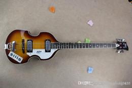 Envío gratis Brand Classic Bases Guitar desde 1887, 4 cuerdas 22 trastes bajo eléctrico Flame Maple Made In USA desde fabricantes