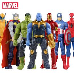 figures d'animaux de la forêt Promotion Marvel Avengers Endgame Thanos Spiderman Hulk Iron Man Captain America Thor Wolverine Figurine Jouets Poupées pour Enfants 30CM
