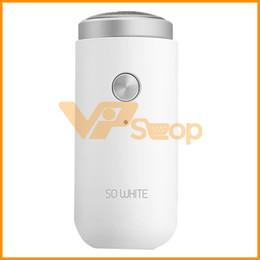 Männer nass weiß online-Xiaomi Mijia SO WHITE ED1 Mini-Elektrorasierer Für Männer Tragbare Rasierapparate Nassrasierapparat Waschbar Doppelbartschneider