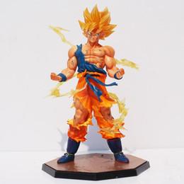 Figuras de ação do filho goku on-line-Dragon Ball Dragon Ball Z Super Saiyajin Goku PVC Figura de Ação Figuras Goku Coleção Modelo de Brinquedo de Presente Com Caixa de 17 cm
