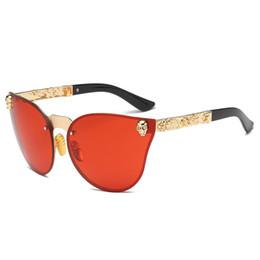 Moda unisex cranio montatura in metallo occhiali da sole uv400 lente in resina donne eyewear vacanza all'aperto uomini occhiali da sole c19041201 supplier holiday resins da resine per vacanze fornitori