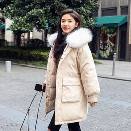 90352633da5 Winter jacket Women fashion hoodies large faux fur collar hood Parka Jacket  Thicken female Cotton Padded Outwear woman coat