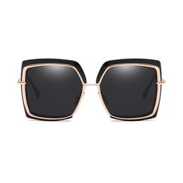 oversize vintage brille großhandel Rabatt Wholesale-MLLSE Fashion Oversize Square Sonnenbrillen für Frauen Markendesigner Vintage Retro Big Frame Weibliche Sonnenbrille Damen Sonnenbrille