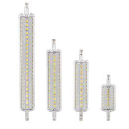 2020 projecteur dimmable Dimmable conduit R7s 78mm 118mm 135mm 189mm LED Ampoule de maïs 2835 SMD ampoule lumineuse 7W 14W 20W 25W Remplacer lampe halogène AC 85-265V Projecteur projecteur dimmable pas cher
