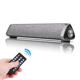 Barra audio Bluetooth TV via cavo e cablata Home Theater TV Triangle Bar con telecomando, scheda TF-Surround SoundBar per TV / PC / telefoni da cablaggio del telefono domestico fornitori