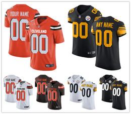 Deutschland Benutzerdefinierte Herren Damen Jugend Cleveland Pittsburgh Trikot Jeder Ihr Name und Ihre Nummer Kinder Mädchen Browns Steelers Fußball Trikots cheap girls names Versorgung