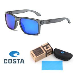 Reflektierende hochwertige sonnenbrille online-Hochwertige costa sonnenbrille für männer frau mode sonnenbrille persönlichkeit trend reflektierende beschichtung polarisierte brillen mit kleinkasten