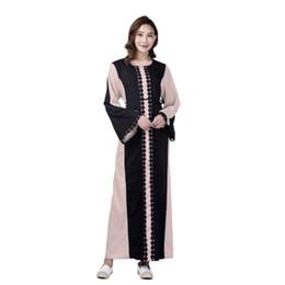 2019 modelos abaya Marca Moda Vestido Muçulmano Abaya Vestido Robe Vestidos Casuais Plus Size Robe De Tricô Macio Do Vintage Vestidos S-2XL