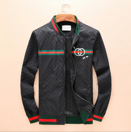 Marca al por mayor GUCCI chaqueta chaqueta de invierno de alta calidad para hombres rompevientos windrunner high street western hombres envío gratis casual desde fabricantes