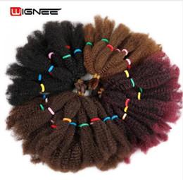 2020 trenzas de ganchillo afro rizado Afro Kinky Bulk Crochet Twist trenzado extensión del pelo para las mujeres Senegalese Twist sin cola Fibra sintética falso pieza de cabello trenzas de ganchillo afro rizado baratos