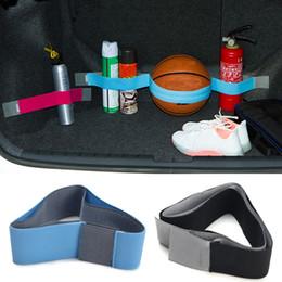 2019 juguetes de tela coche 20-80cm elástico Oxford maletero del coche fija la cinta de la correa de artículos varios Estiba poner en orden strorage correa mágica - 80cm Azul