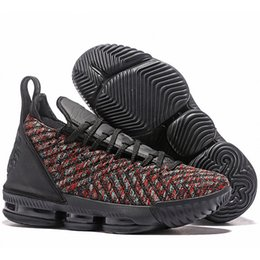 24f2bc11b40 Low Price Lebron 16 Mens Basketball Shoes Black Multi-Color James 16 XVI  Low Price Trainers Sports Designer Sneakers Outlet