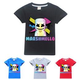Maglietta musicale dj online-Marshmello maniche corte T-shirt per ragazzi Dj Music T Shirt bambini Natale Baby Girl Top AAA1881