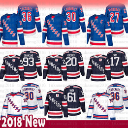 2860e6a122e1d Almiar online-New York Rangers 30 Camiseta Henrik Lundqvist Hockey 36  Tapetes Zuccarello 61 Rick