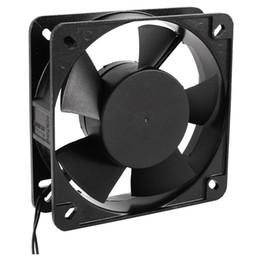 Fils de ventilateurs en Ligne-135mm x 38mm Ventilateur de refroidissement à boîtier métallique noir CA 220V-240V 50 / 60Hz 0.08A