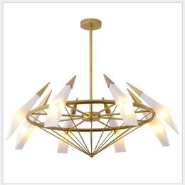 Restaurante nórdico de moda sala de estar araña creativa hotel lámpara de cristal verde personalidad hogar hierro forjado araña decorativa desde fabricantes