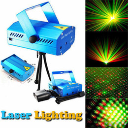 Dj blu chiaro online-150MW Mini Red Green Moving Party corpo blu / nero Laser Stage Light laser DJ party light Twinkle With Treppiede led lampada da palco