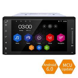 2019 android rav4 auto gps 7 pollici Caso corto Android 6.0 Quad Core Car Media Player con GPS Navi Radio per Toyota Universal 2DIN RAV4 / Corolla / HILUX / Land Cruiser # 5436 android rav4 auto gps economici